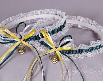 Seattle SuperSonics Lace Wedding Garter Set