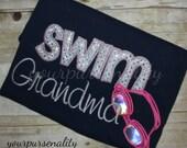 Swim Mom--Sports mom - dad - uncle - aunt - grandma - grandpa