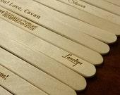 250 Laser Engraved Popsicle Ice Cream Sticks