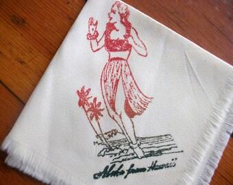 Vintage 40's Souvenir Aloha from Hawaii Hankie