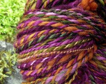 Handspun yarn, handpainted hand dyed wool yarn ooak, wool yarn-Calliope