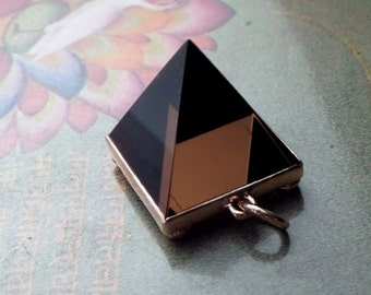 48ct. Natural Smoky Quartz Pyramid in 14k Rose Gold Handforged Pendant/Decorative Charm, Available for Shipping after June 30th