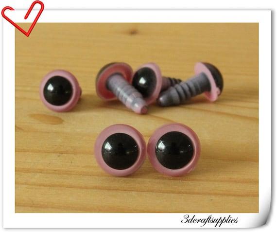 10 mm Pink Safety eye amigurumi eye doll eyes cat eye 20