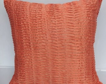 Peach color euro sham 26 inch cushion cover only- IN STOCK