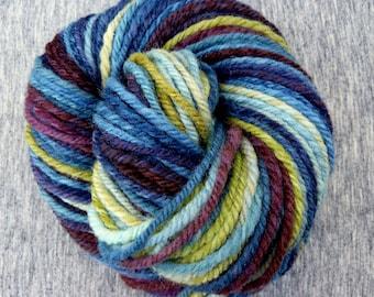 "Handspun Yarn Aran Southdown 120 yds ""A Bit Of Zip And Sizzle"" Hello Yarn"