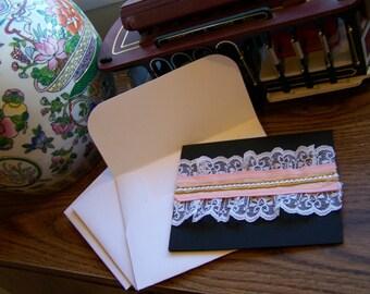 ribbon lace card and envelope set