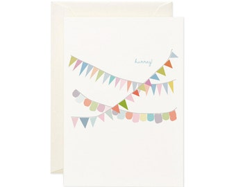 Hurray for Bunting Card   Greeting Card   Gift Card   Toodles Noodles