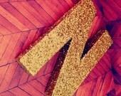 Gold Glitter Letters self standing letters gold nursery decor baby shower gift glitter baby gift gold glitter decor baby gift wall letters