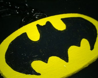 3- Batman  & 2- Heart Necklaces... Use for Doll or a Little Boy or Girl