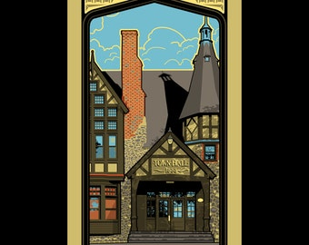 Barrington Town Hall Silkscreen Print