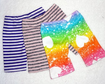 """Doll leggings, PICK YOUR KNIT, 10"""" 13"""" 15"""" Waldorf doll clothes, fits Bamboletta dolls, 18 inch girl doll, 15 inch babies or twin dolls gift"""