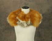 vintage 40s Fox Fur Collar -  Huge Silver Tipped Red Fox Fur Stole 1940s Fur Stole Sz S M L