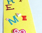 Handmade Children bookmark non laminated mailed to you - Ages 12 and up - Buy 2 get a free gift