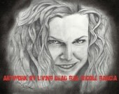 """ORIGINAL Portrait Drawing : """"Tasty"""" - Sheri Moon Zombie - Baby Firefly - House of 1000 Corpses Art"""
