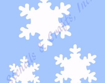"SNOWFLAKE SNOWFLAKES STENCIL background pattern stencils template templates craft pochoir scrapbook new 4"" x 5"""