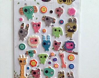 Animal Sticker, animals stickers, animals sticker, animal stickers, giraffe, rabbit, bunny, lion, dog, elephant, cartoon, colorful, kid
