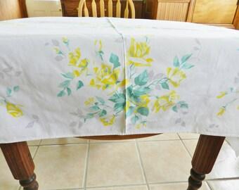 Wilendur Tablecloth,  Yellow Rose Tablecloth, CUTTER Tablecloth, Texas Rose Tablecloth