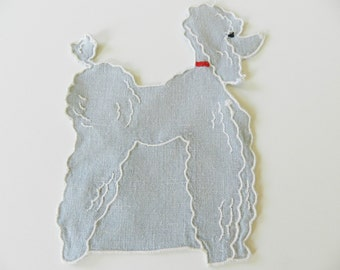 1950s Poodle Applique, Dog Applique, Vintage Poodle Applique, Retro Applique, Dog Lover Applique