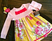 SALE! READY to SHIP! Floral Knit Dress size 2t, Last One