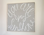 You Are My Sunshine - Handpainted Nursery Kids Wall Art Sign - Framed and Ready To Hang