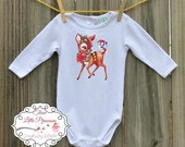 Vintage Deer Personalized Onesie or T Shirt - Christmas T Shirt - Retro T Shirt