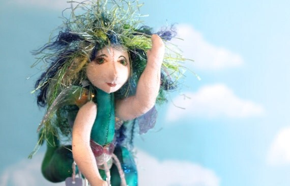 ooak, original cloth art doll, Gretchen the fairie