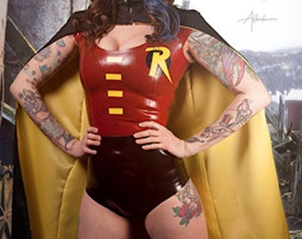 Latex Robin Young Justice Cosplay DC