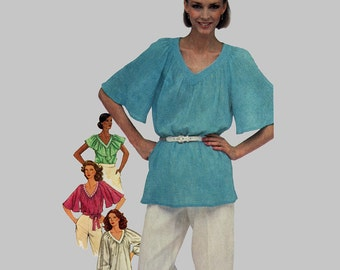 Vintage Easy McCalls Sewing Pattern 8863 Blouses Bust 40 - 42 Size 18-20 UNCUT