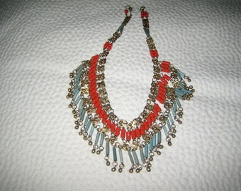 Intriguing Egyptian Revival period necklace from 50?  Haskell?