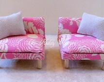 Pink modern Barbie chair