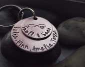 Infinity Love family copper keychain, or anniversary keychain