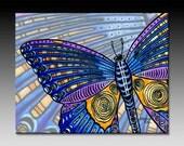 Butterfly Wings Ceramic Tile Wall Art