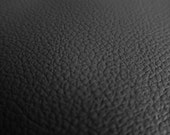 Faux Leather Fabric in Cow Leather Pattern - Black - Half Yard