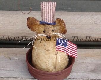 Primitive Americana Sam Mouse, Uncle Sam mouse, primitive mouse