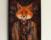 Art Print - Poster - Portrait of The Mysterious Lord Fox