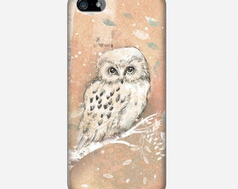 Smartphone case - iPhone or Samsung Galaxy case - Snow Owl