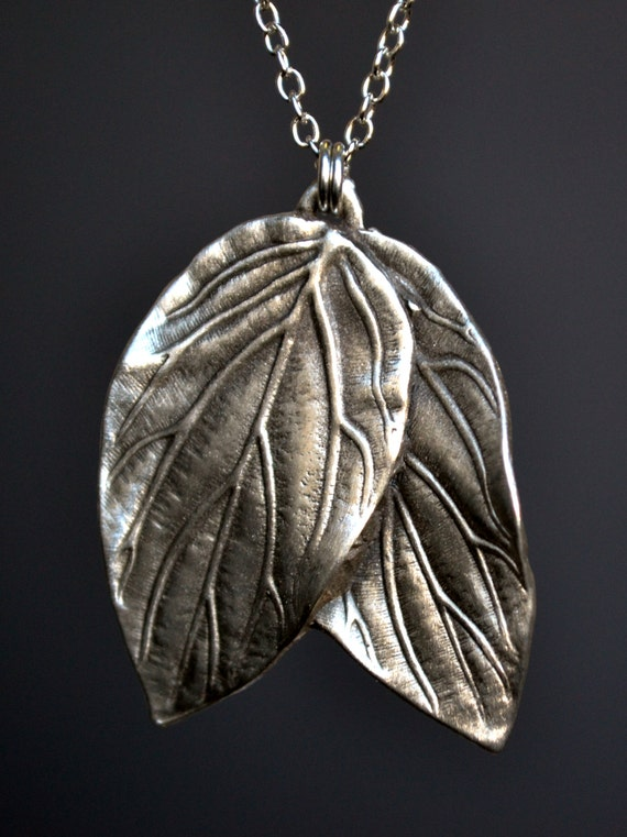 s leaf pendant necklace elven jewelry by