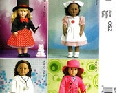 DOLL CLOTHES PATTERN / Make Doll Outfits / Fits American Girl  - 18 Inch Dolls / Clothes / Nurse - Doctor