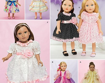 DOLL CLOTHES PATTERN / Make Fancy Dresses / Fits American Girl  - 18 Inch Dolls / Clothes