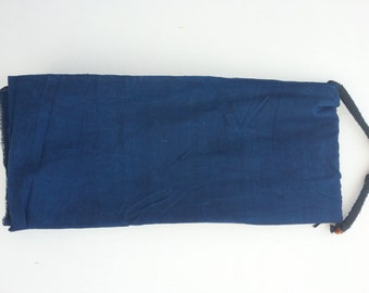 Home spun, hand weave Khadi cotton, natural indigo- BL indigo