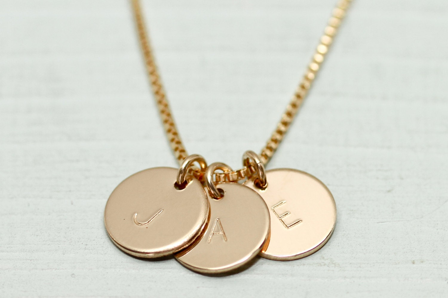 gold disc necklace dainty gold necklace initial necklace