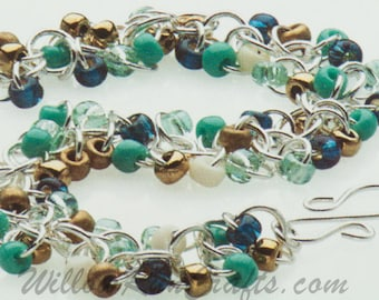 Shaggy Loops Chain Maille Kit- Sedona, Chain Maille Bracelet Kit
