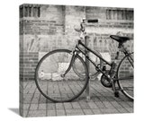 "Bike Photography ""Soon We Ride"" Bicycle Photography, Bike Photo, Black and White Bicycle Photo, Bicycle Art, Bike Art, Canvas Gallery Wrap"