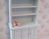 Dollhouse Kitchen Hutch ,small hutch, Blue dresser, dollhouse dresser,  Dresser, twelfth scale, dollhouse miniature
