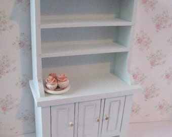 Dollhouse Kitchen Hutch, small hutch, Blue dresser, dollhouse dresser,  Dresser, twelfth scale, dollhouse miniature