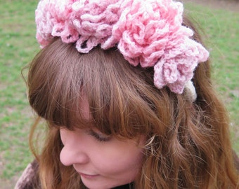 Floral Headband Crochet Pattern for Princesses, Weddings and Festivals