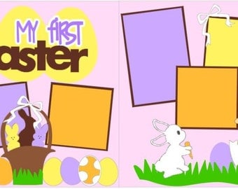 My 1st Easter 2-page 12x12 do-it-yourself scrapbook kit