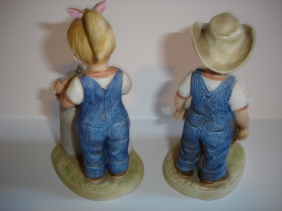 Home Inerior Homco Figurine Denim Days 1985 By