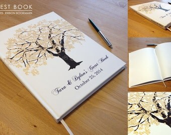 Oak Tree Wedding Guest Book, Hardcover, 100 Pages, Customized