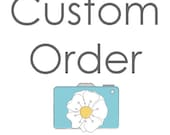 custom order for  Marie - four 6x6 photos - sand and petals photography